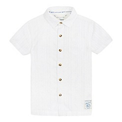 Mantaray - Boys' white textured shirt