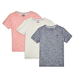Mantaray - Boys' pack of three assorted t-shirts