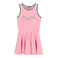 Pineapple - Girls' pink sequin logo jersey dress
