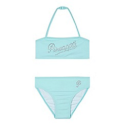 Pineapple - Girls' turquoise diamante logo bikini set
