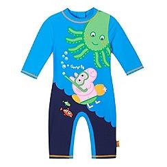 Peppa Pig - Boys' blue 'Peppa Pig' George sun-safe swimsuit