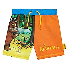 The Gruffalo - Boys' orange 'Gruffalo' print magic swim shorts