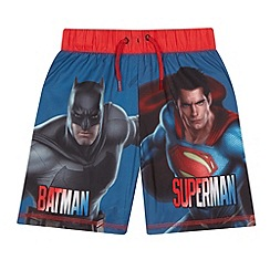 Batman - Boys' blue Batman V Superman print swim shorts