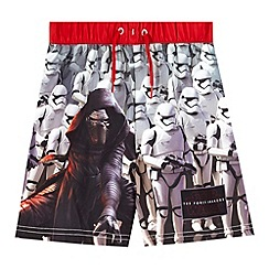 Star Wars - Boys' black 'Stars Wars' swim shorts