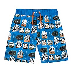 Star Wars - Boys' blue 'Star Wars' swim shorts