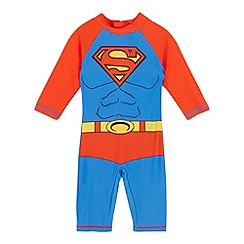 Superman - Boys' red and blue 'Superman' sunsafe rash suit