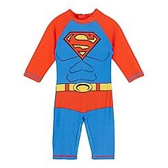 Superman - Boys' red and blue 'Superman' sunsafe rash suit