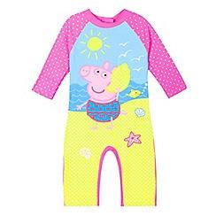 Peppa Pig - Girls' pink 'Peppa Pig' sun-safe swimsuit