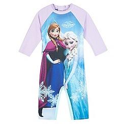 Disney Frozen - Girls' aqua 'Frozen' sun-safe swimsuit