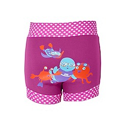 Zoggs - Baby girls' pink sea animal print swim nappy