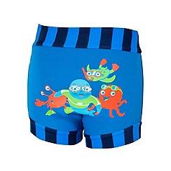 Zoggs - Baby boys' blue sea animal print swim nappy