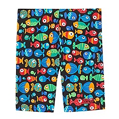 Zoggs - Boys' black fish print swim shorts