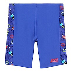 Zoggs - Boys' blue robot print swim trunks