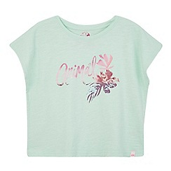 Animal - Girls' light green logo print t-shirt