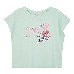 Animal - Girls' light green logo print t-shirt