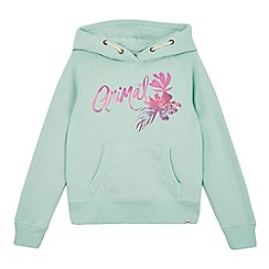 Animal - Girls' light green logo print hoodie