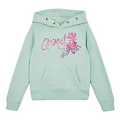 Animal - Girls' light green logo print hoodie
