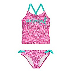 Animal - Girls' pink cactus print tankini