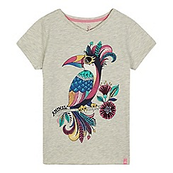 Animal - Girls' grey toucan print t-shirt