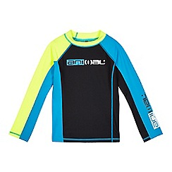Animal - Boys' black and blue UPF rash vest