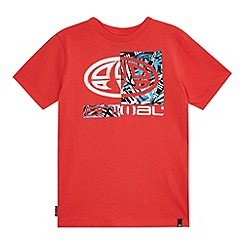 Animal - Boys' red logo print t-shirt