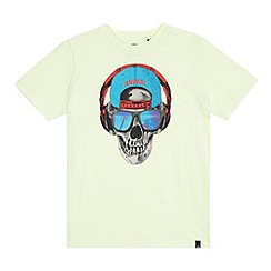 Animal - Boys' light green skull print t-shirt