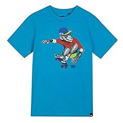 Animal - Boys' blue skateboarding monkey print t-shirt