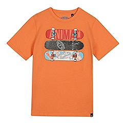 Animal - Boys' orange skateboard print t-shirt