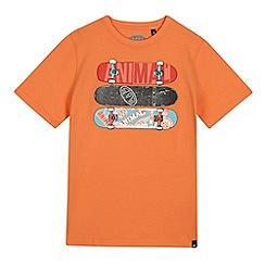 Animal - Boys' orange skateboard print t-shirt