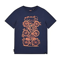 Animal - Boys' navy bicycle print t-shirt
