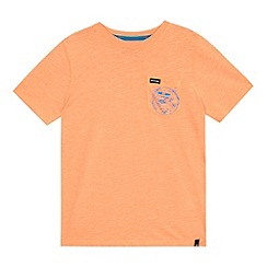 Animal - Boys' orange 'Mexican wave' print t-shirt