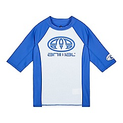 Animal - Boys' blue UPF rash vest