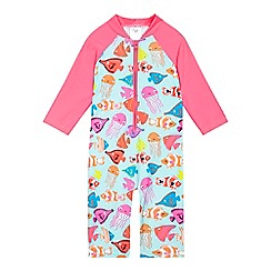 bluezoo - Girls' multi-coloured fish print sunsafe