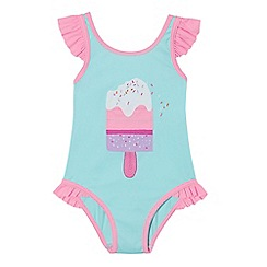 bluezoo - Girls' blue ice cream swimsuit