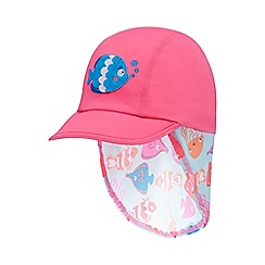 bluezoo - Girls' pink fish print keppi hat