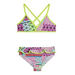 bluezoo - Girls' multi-coloured Aztec bikini set