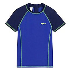 bluezoo - Boys' blue rash vest