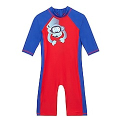 bluezoo - Boys' red monkey print sunsafe