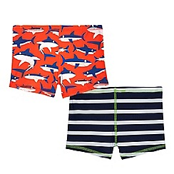 bluezoo - Pack of two boys' assorted print swim trunks