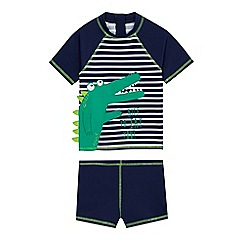 bluezoo - Boys' two piece crocodile print swim suit