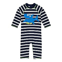 bluezoo - Boys' navy shark applique sunsafe