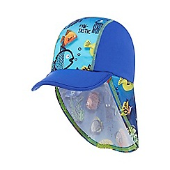 bluezoo - Boys' blue fish printed keppi hat