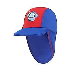 bluezoo - Boys' blue monkey applique keppi hat