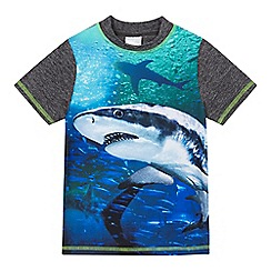 bluezoo - Boys' shark print rash vest