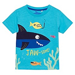 bluezoo - Boys' blue 'Jaw-some' t-shirt