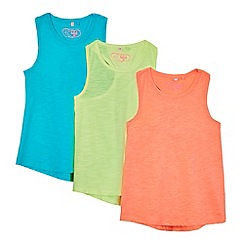 bluezoo - Pack of three girls' assorted vests