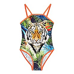 bluezoo - Girls' tiger print swimsuit