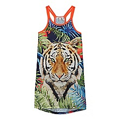 bluezoo - Girls' multi-coloured tiger print dress