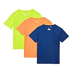 bluezoo - Pack of three boys' assorted pocket t-shirts