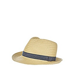 bluezoo - Boys' natural straw trilby hat